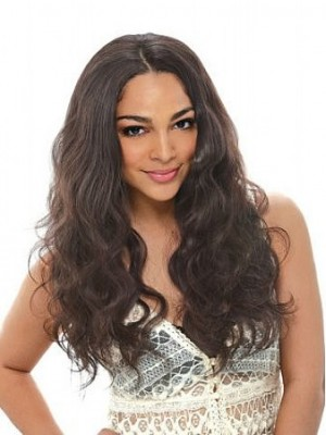 Natural High Quality Wavy Synthetic Capless Wig