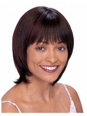 Capless Straight Perfect Remy Human Hair Wig