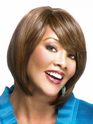 Modern Straight Remy Human Hair African American Wig