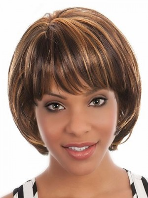Straight Lace Front Romantic African American Wig