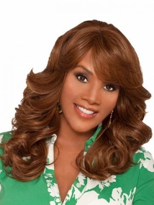 Charming Long Synthetic Wavy African American Wig
