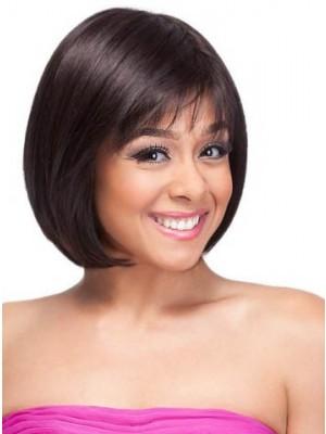 Medium Straight Charming African American Wig
