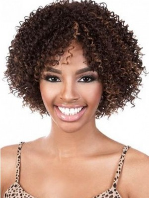 Natural Medium Curly African American Wig