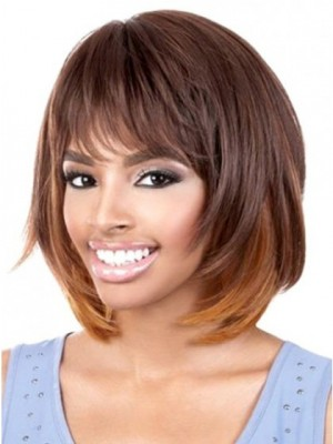 Perfect Straight Synthetic African American Wig