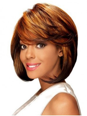 Affordable Lace Front Straight African American Wig