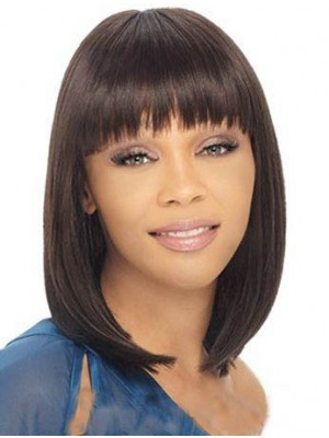 Lace Front Comfortable Straight African American Wig