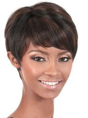 Attractive Short Capless Straight Human Hair Wig