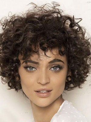 Curly Full Lace Remy Human Hair Wig
