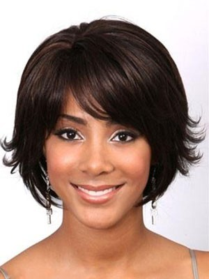 Shimmering Capless Remy Human Hair Wavy Wig
