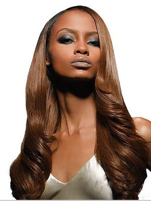 Popular Lace Front Synthetic Long Wavy Wig