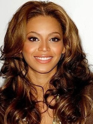 Elegant Human Hair Long Wavy Lace Front Wig