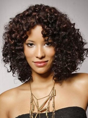 Chic Synthetic Lace Front Curly Wig