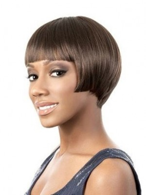 Straight Lace Front Human Hair African American Wig