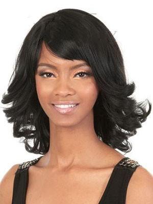 Natural Human Hair Wavy Capless Wig