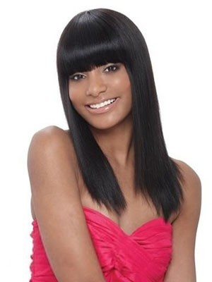 Shimmering Synthetic Straight Capless Wig