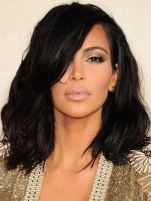 Shimmering Synthetic Wavy Lace Front Wig