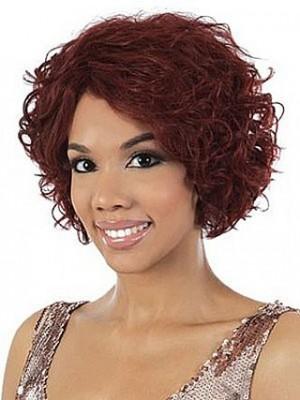 Human Hair Capless Wavy African American Wig
