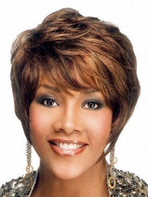 Pixie Cut Style Human Hair African American Wig