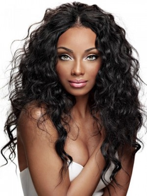Glamorous Synthetic Wavy Capless Wig