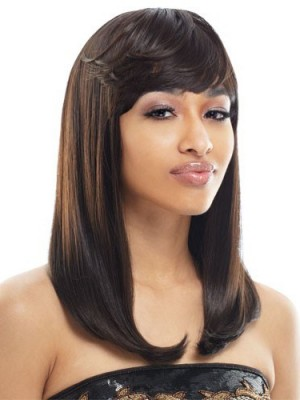 Seductive Capless Human Hair Straight Wig