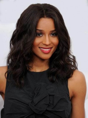 Charming Human Hair Wavy Lace Front Wig