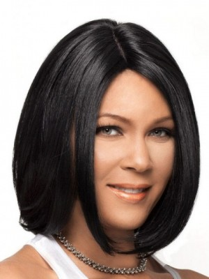 Dazzling Lace Front Synthetic Straight Wig