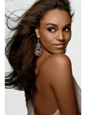 Glamorous Human Hair Wavy Lace Front Wig
