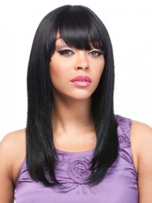 Natural Straight Capless Synthetic Wig