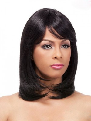 Shimmering Straight Synthetic Capless Wig