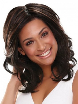 Impressive Wavy Lace Front Synthetic Wig