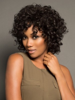 Stylish Curly Lace Front Synthetic Wig