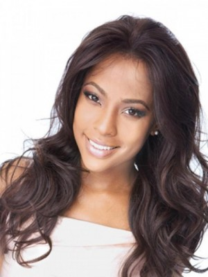 Graceful Wavy Lace Front Human Hair Wig