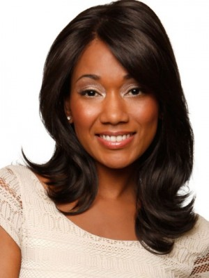 Pleasant Wavy Lace Front Synthetic Wig