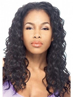 Dazzling Curly Lace Front Synthetic Wig