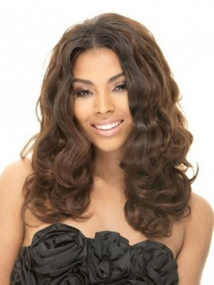 Impressive Lace Front Wavy Human Hair Wig