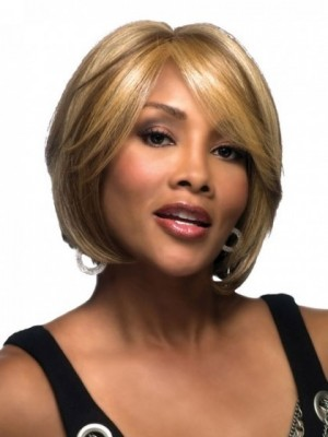 Luscious Bob Style Synthetic Lace African American Wig