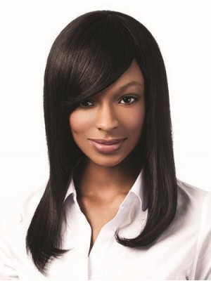 Chic Straight Human Hair Capless Wig