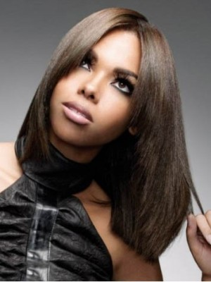 Elegant Lace Front Synthetic Straight Wig
