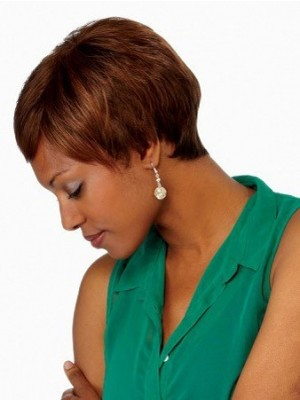 Bob Style Synthetic Lace Front African American Wig