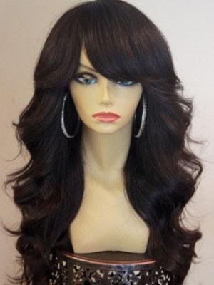 Charming Capless Wavy Human Hair Wig