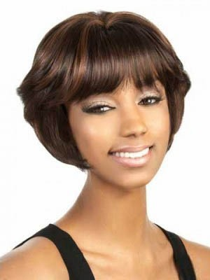 Fine Straight Synthetic Capless Wig