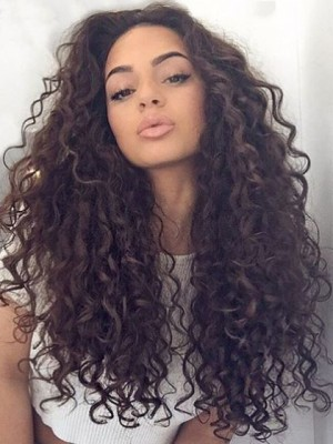 Marvelous Lace Front Remy Human Hair Curly Wig