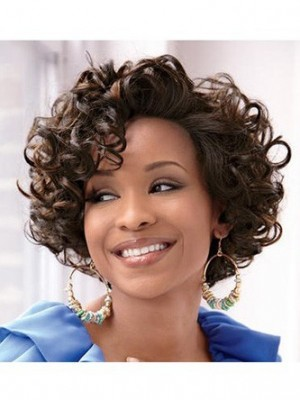 Wavy Lace Front African American Wig