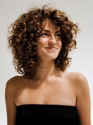 Layered Lace Front Synthetic Curly Wig