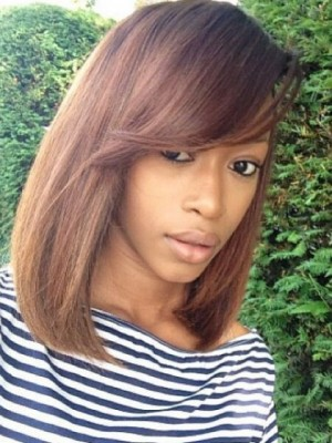 Comfortable Capless Remy Human Hair Straight Wig