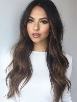 Smooth Lace Front Remy Human Hair Wavy Wig