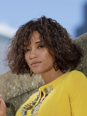 Medium Loose Curly Synthetic African American Wig