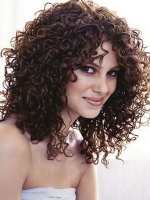 Elegant Lace Front Remy Human Hair Curly Wig