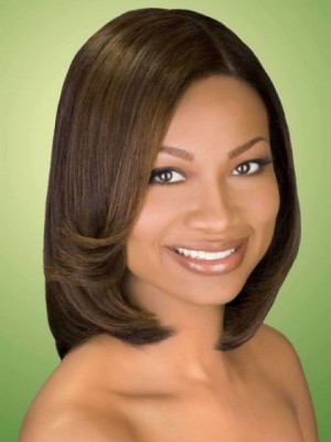 Classic Lace Front Synthetic Straight Wig