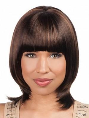Popular Bob Silky Straight Chin Length African American Wig
